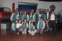 Equipe da ETE FMC com o apresentador do Point 21 Oficina, Diego Fernandes