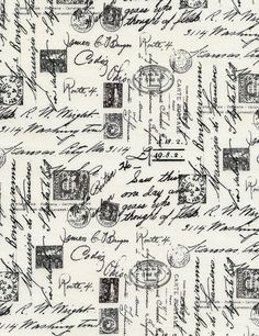 Script writing fabric by Timeless Treasures by Lilliansquiltshack