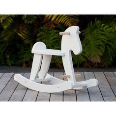 Mocka Children's Wooden Rocking Horse White - Mocka Australia - Little Earth Nest