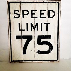 Speed Limit 75 Street Sign Pallet Wood Sign by TheCreativePallet