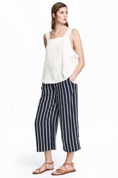 Culottes - Dark blue/Striped - Ladies | H&M 1