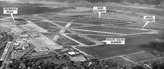 This aerial photo from 1968 shows the new $450,000, 4,300-foot-long concrete runway at Eppley Airfield. It was to be used for business and p...