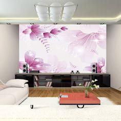 Magnet modern mural photo wallpaper roll flowers contact for Purple kitchen wallpaper