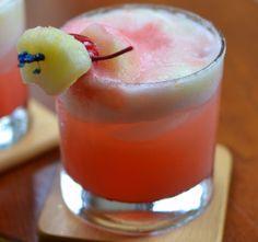 Pineapple Cherry Crush Cocktail Recipe Beverages, Cocktails with pineapple, vodka, ice, cocktail cherries