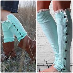Mint Green Leg Warmers New mint green leg warmers. Adorable with boots. Bundle and save. Accessories Hosiery & Socks