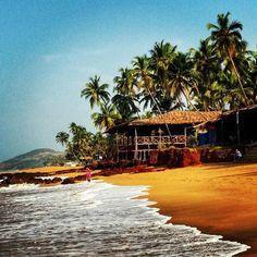 Anjuna Beach in North Goa, India