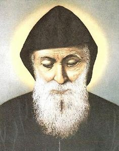MPOWER/// مار مارون عنّايا - Saint Charbel Annaya - Official website of the Saint Maron-Annaya monastery - monastere Saint Maron-Annaya Tombeau de Saint Charbel - Mar Charbel - del Monasterio Santo Maron, Annaya, Sepultare de Santo Charbel Maronite Church, Modern Church, Missionaries Of Charity, St Charbel, Blessed Virgin Mary, Catholic Saints, Religious Art, Our Lady, Priest