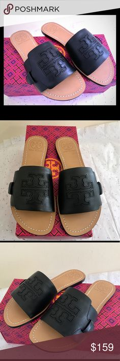 Tory Burch Melinda Slide Sandals Brand new in box  ✨they run half a size smaller ✨ Tory Burch Shoes Sandals