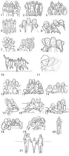 21 Идеи и поз для фотосессии группы людей.