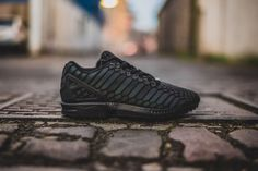 3a14518dcb313 Adidas ZX Flux Xeno Triple Black Reflective All Star as Core AQ7418 Mens  Youth