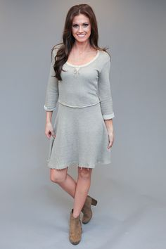 Magnolia Boutique Indianapolis - Everyday Knit Fit and Flare Dress - Taupe, $39.00 (http://www.indiefashionboutique.com/everyday-knit-fit-and-flare-dress-taupe/)