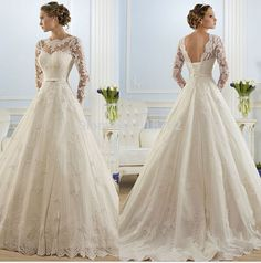 2016 hot sale beautiful lace Wedding Dresses cheap a line Wedding Gown Bridal Dresses Bridal Gown with ribbon-in Wedding Dresses from Weddings & Events on Aliexpress.com | Alibaba Group