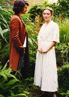 Ben Whishaw & Saoirse Ronan photographed by Mel Bles for Vogue (April 2016)