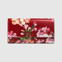 Blooms print continental wallet