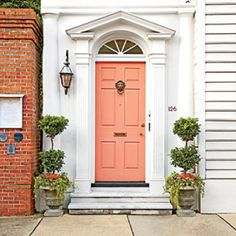 Charming Home Exteriors: Charleston Peach Front Door