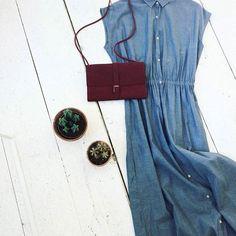 American Vintage + Puc #kolifleur #dress #leatherbag  by @weirdnomad