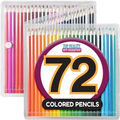 Colored Pencil Set with Case, 7-Inch, Pack of 72. NOT JUST FOR ARTIST- FOR ALL  #Unbranded