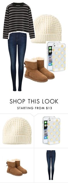 """Casual in the cool"" by gabriellef123 ❤ liked on Polyvore featuring Uniqlo, Kate Spade, UGG Australia, Dr. Denim and Chicnova Fashion"