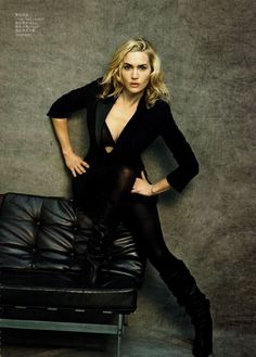 Kate Winslet | Photography by Peter Lindbergh | For Vogue China | October 2010