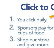 Help -End Hunger- and -End Poverty- with a free click!  -the hunger site