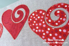 Corazones Sewing Appliques, Applique Patterns, Applique Quilts, Applique Designs, Sewing Crafts, Sewing Projects, Quilted Gifts, Patch Aplique, Shape Crafts