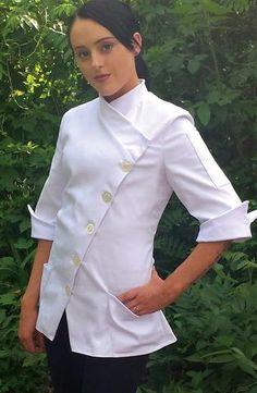 Yasmeen - Fitted Chef Coat – SANDRA HARVEY Chef Apparel