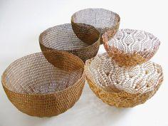 Moonbasket end of range sale at Vamp - 05 November 2014 Crochet Bowl, Contemporary Design, Decorative Bowls, November, Range, Totes, Baskets, Clever, Handmade