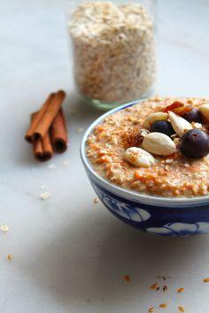 porridge carotte cake avoine sans cuisson - Petit déjeuner