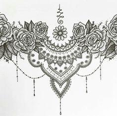 Pencil, ballpoint, markers and copic drawings bauchdeckenstraffung, tattoo Dr Tattoo, Tattoo Mond, Tummy Tattoo, Sternum Tattoo, Lace Tattoo, Cover Tattoo, Mandala Tattoo, Tattoo Quotes, Chest Piece Tattoos