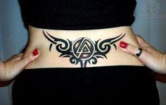 linkin park tattoos   Tribal Linkin Park Logo Tattoo On Lowerback  lp