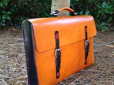 Portfolio Brief Case Genuine Leather Handmade by HeirloomLeather, $295.00