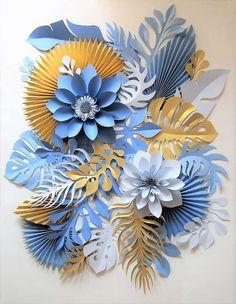 Paper Flower Patterns, Paper Flower Art, Paper Flowers Craft, Large Paper Flowers, Flower Crafts, Diy Paper, Paper Art, Paper Crafts, Paper Decorations