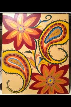 Floral and paisley canvas