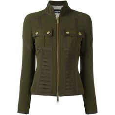 Dsquared Damen bustier detail military jacket - reduziert ($1,135) ❤ liked on Polyvore featuring outerwear, jackets, army jacket, green jacket, military jacket, dsquared2 jacket and army green jacket