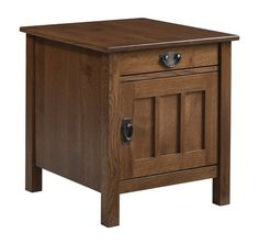 Amish Liberty Mission Closed End Table Amish Liberty Mission Closed End Table. Solid wood end table with storage. Available in choice of wood and finish. #DutchCrafters