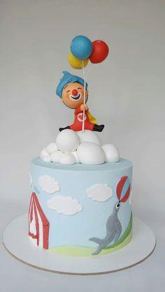 Payaso Plim Plim Circus Birthday, Circus Party, Baby Birthday, Candy Party, Baby Shark, Cake Smash, First Birthdays, Ale, Baby Shower