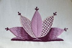 Beginners Crewelwork Waterlily Kit available from https://www.etsy.com/uk/shop/TheArtoftheNeedle