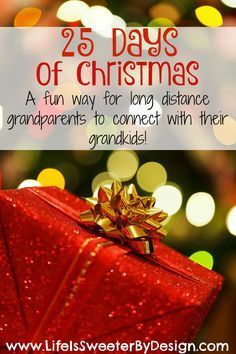 Long distance grandparenting can be hard at the holidays. This fun idea can really help you connect with your grandkids during Christmas!