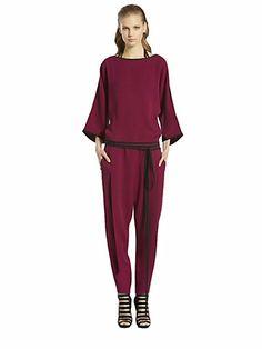 Gucci - Kimono Silk Cady Jumpsuit - Saks.com