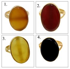 Gold Plated Rings, Oval Shape, Party Wear, Green Materials, Shapes, Yellow, Plating, Red, Gemstone Rings