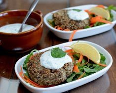 Falafel Burgers (Lentil Burgers), another Meatless Monday Recipe ♥ AVeggieVenture.com. Naturally Gluten Free. Low Cal.