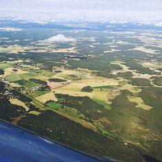 Flying over Sweden.  Photo by awhitechelsea • Instagram