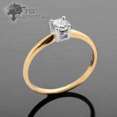 Pierścionek z żółtego złota z brylantem o masie 0,36ct idealnie pasuje na zaręczyny #pierscionkizareczynowe