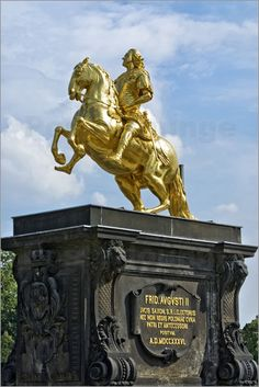 Poster Goldener Reiter, Dresden