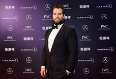 Henry Cavill and his brother, Charlie Cavill attend the 2015 Laureus World Sports Awards at Shanghai Grand Theatre on April 15, 2015 in Shanghai, China. Henry presents the Best Team Award.