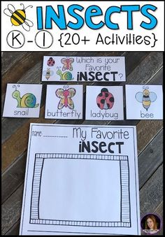 Are you looking for factual, fun and engaging insect activities for Kindergarten to introduce insects in your classroom? Our insect unit is just what you need! Kindergarten Rocks, Kindergarten Writing, Kindergarten Activities, Classroom Activities, Preschool Themes, Preschool Science, Preschool Crafts, Science Area, Science Education
