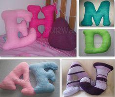 Crochet letter pillow £19.50