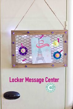 Create a fun place to share messages and photos for lockers with this quick and easy Locker Message Center craft