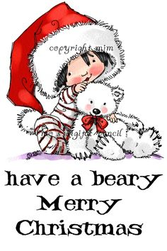 Digital Pencil Too: Beary Merry Christmas Merry Christmas, Christmas Rock, Christmas Canvas, Christmas Fairy, Christmas Clipart, Vintage Christmas, Christmas Vases, Christmas Cartoons, Whimsy Stamps