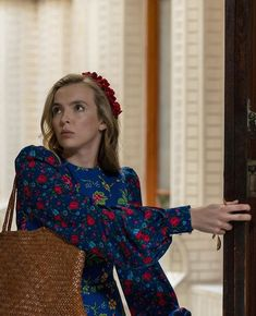 Photo of Current Mood: Daydreaming About Villanelle's Blue Floral Dress on Killing Eve Phoebe Waller Bridge, Sandra Oh, Jodie Comer, Current Mood, Pink Dress, Style Icons, Christmas Sweaters, Eve, Celebs